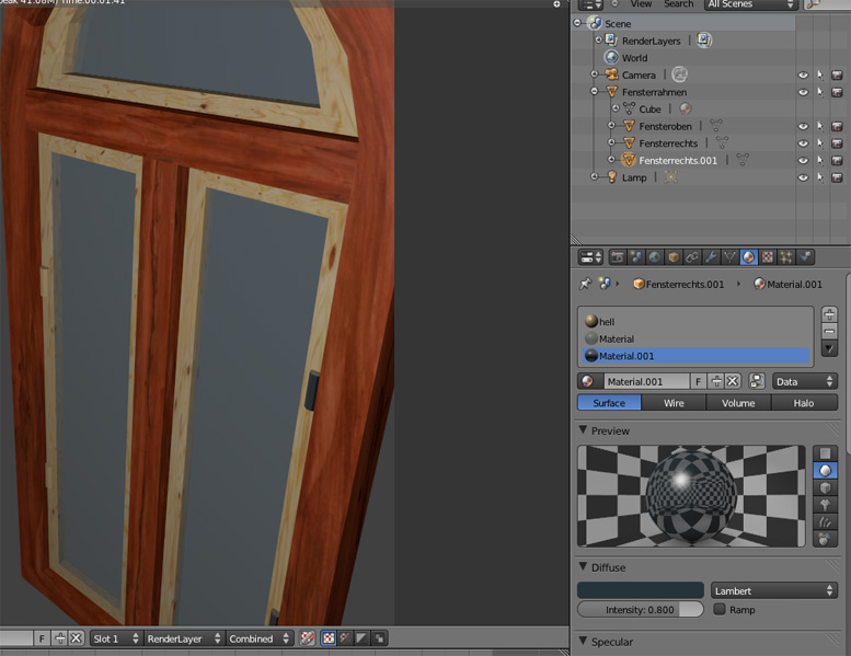 Blender Fenster VideoTutorial
